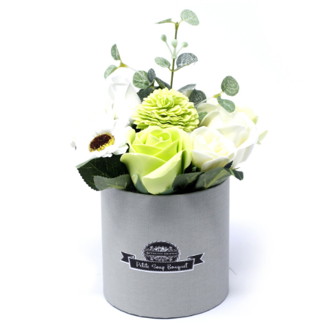 Pastel Green Soap Bouquet Petite Gift Pot